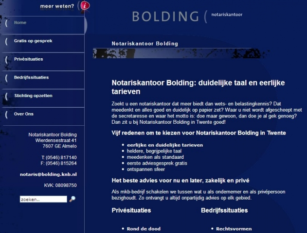 Bolding notaris